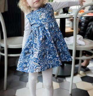 sukienka dla dziewczynki mocca mini