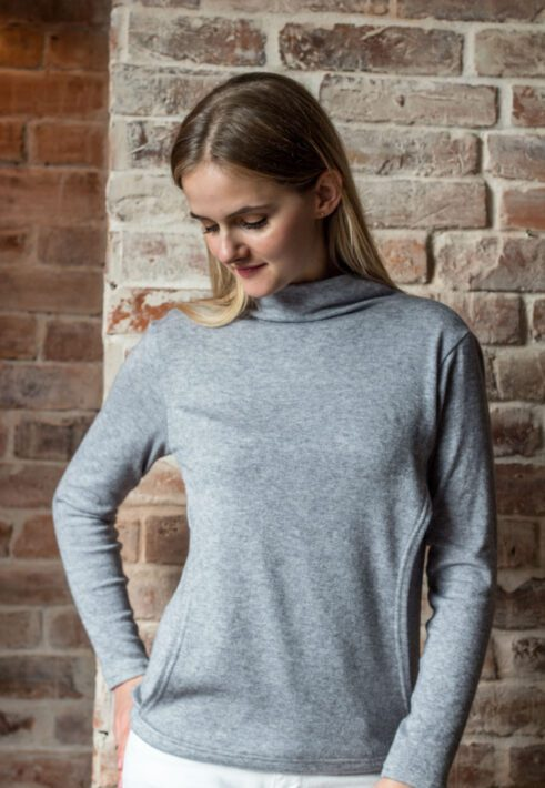 Sweter do karmienia Yunann Grey