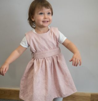 Sukienka dla dziewczynki Tulip pudrowa