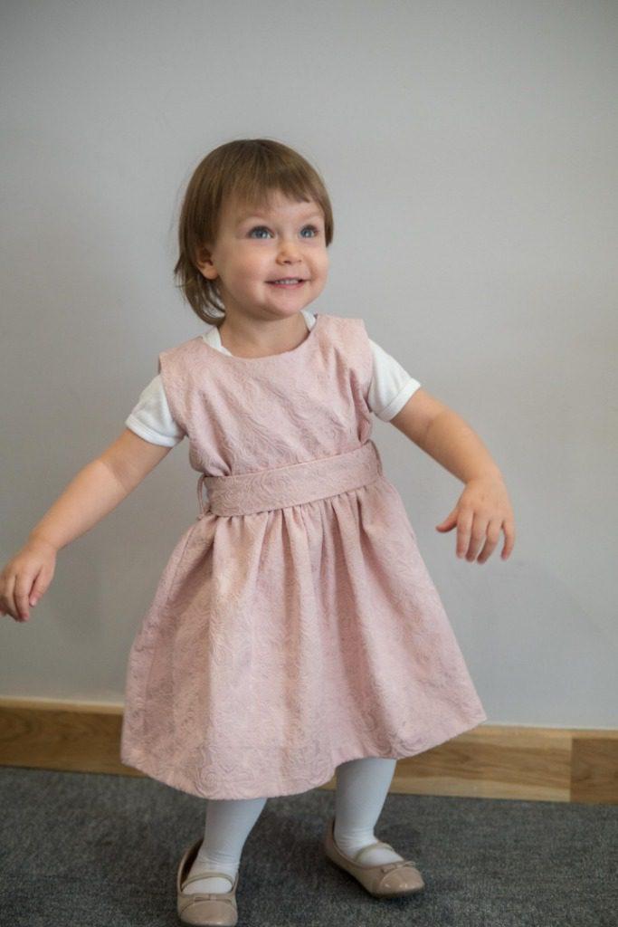 ce98b12e Sukienka dla dzewczynki Tulip pudrowa - Milook - dla mamy i córki