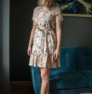 Sukienka do karmienia Meadow pudrowa