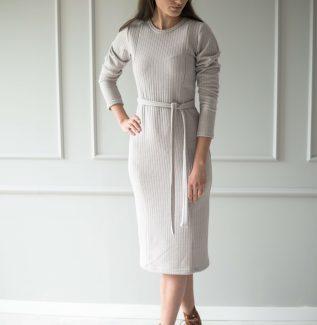 Sukienka do karmienia swetrowa Yerba beżowa