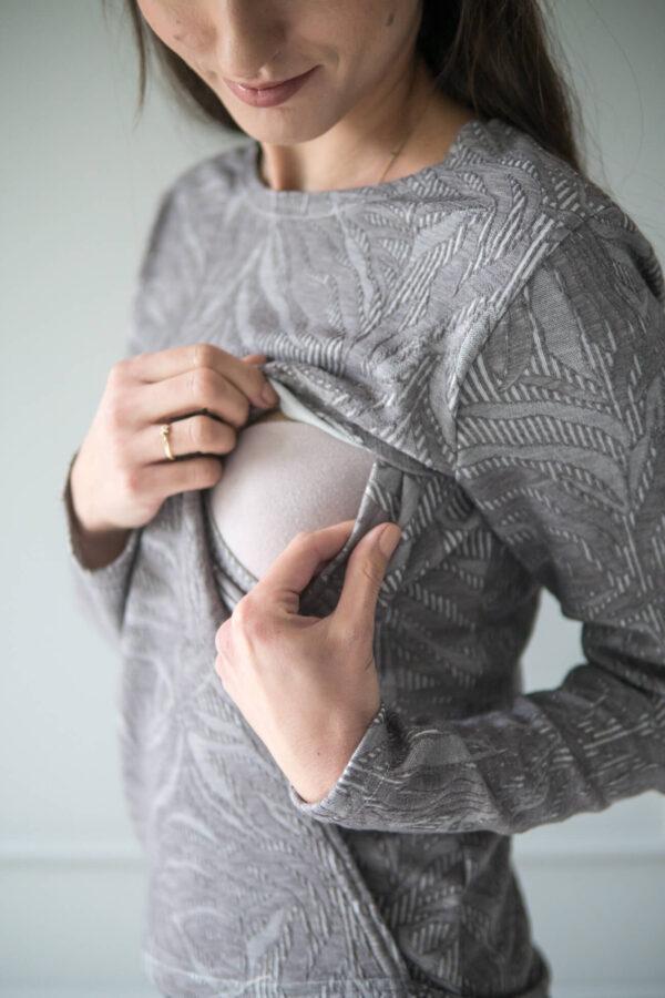 Bluza do karmienia Rooibos beżowa