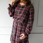 Sukienka do karmienia i ciążowa Frill kratka