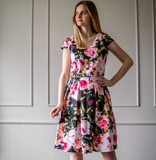 Sukienka do karmienia Lily- ogród różany