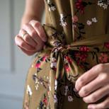 Sukienka do karmienia i ciążowa Lena-cynamon