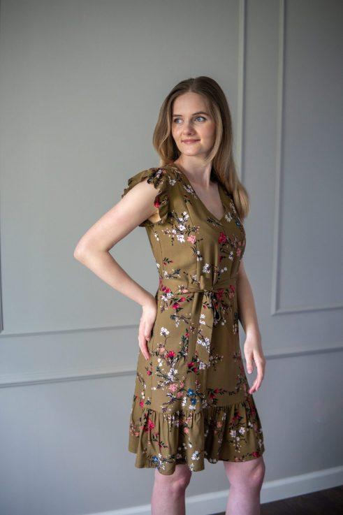 sukienka do karmienia Lena-cynamon