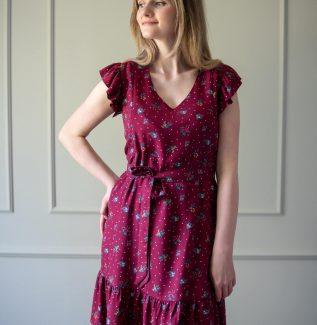 Sukienka do karmienia i ciążowa Lena-bordo