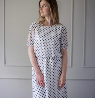 Sukienka do karmienia i ciążowa Laura-grochy