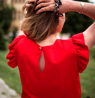 bluzka do karmienia Liwia karminowa