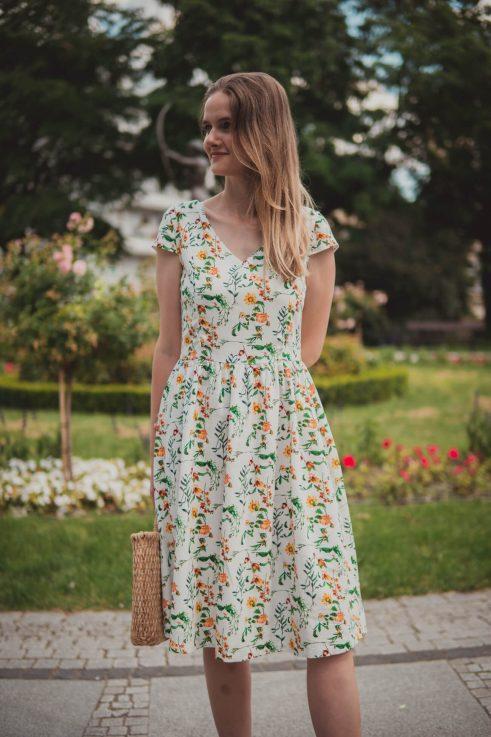 Sukienka do karmienia Lavinia słoneczniki