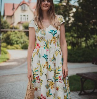 Sukienka do karmienia Lavinia Hibiskusy