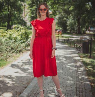 Sukienka do karmienia Ligia karminowa