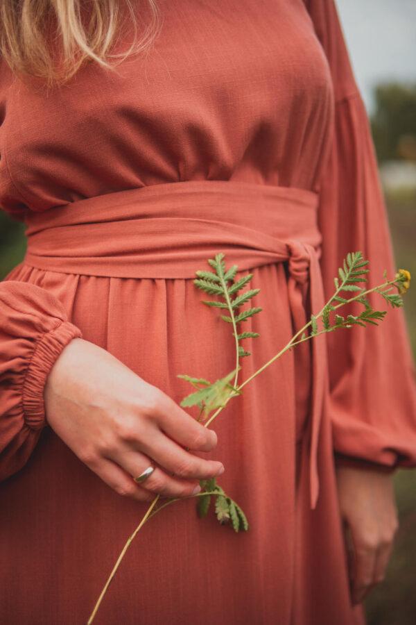 Sukienka ciążowa i do karmienia Jaśmina-rosewood