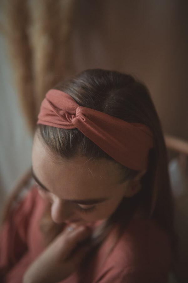materiałowa opaska na głowę-rosewood