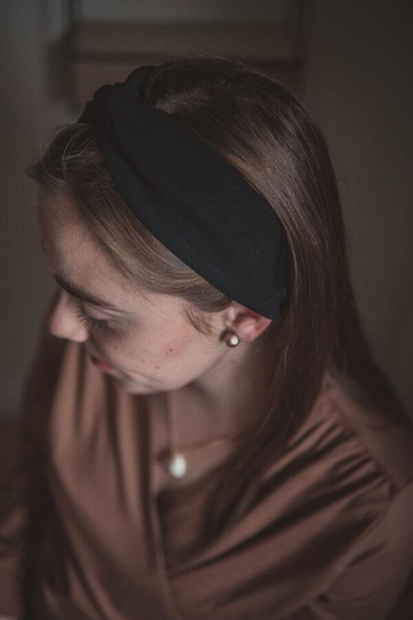materiałowa opaska na głowę