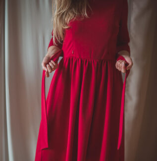 Emily bordo-sukienka do karmienia
