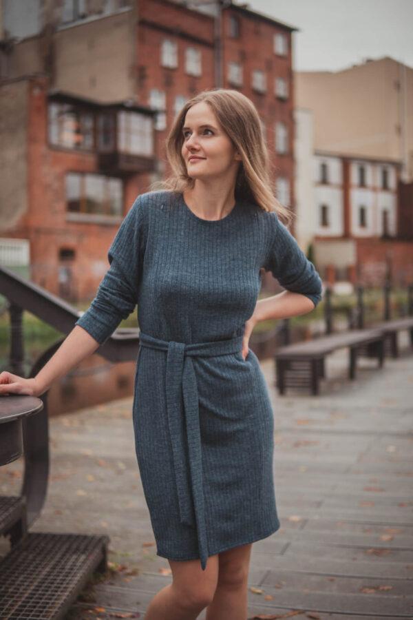 Sukienka ciążowa i do karmienia Klara Navy blue