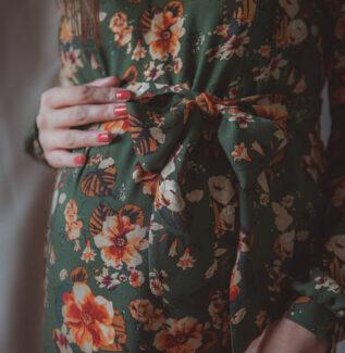 Lara flower green-sukienka ciążowa i do karmienia