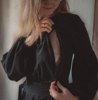 Sukienka ciążowa i do karmienia Jaśmina-black