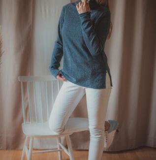 Lazy navy blue - sweter do karmienia