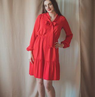 Lidia karminowa-sukienka do karmienia i na czas ciąży