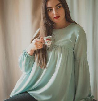 Rozalia mint-bluzka na czas ciąży i do karmienia