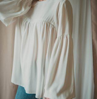 Rozalia ecru-bluzka na czas ciąży i do karmienia