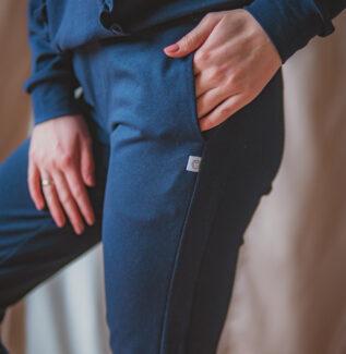 Swing 2w1 granatowe - spodnie dresowe