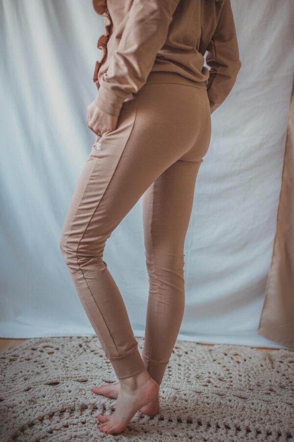 Spodnie dresowe Swing 2w1 - camel