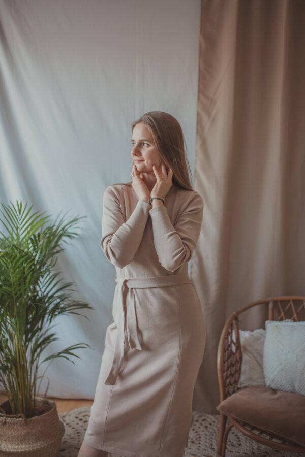 Klara - beż - sukienka ciążowa i do karmienia