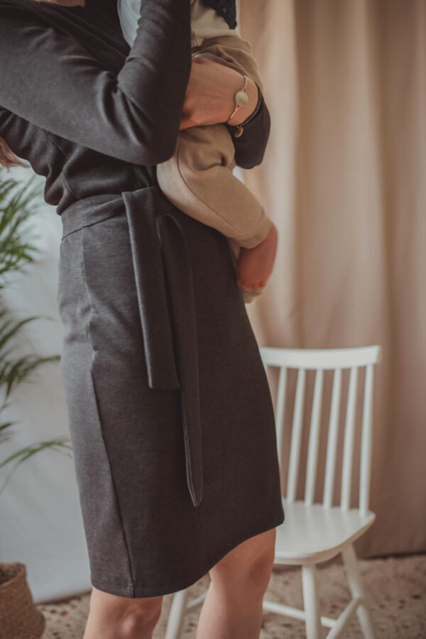 Klara - grafit - sukienka ciążowa i do karmienia