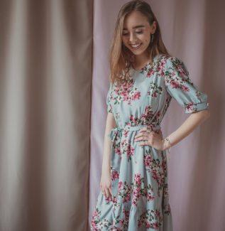 Adele grey garden - sukienka ciążowa i do karmienia