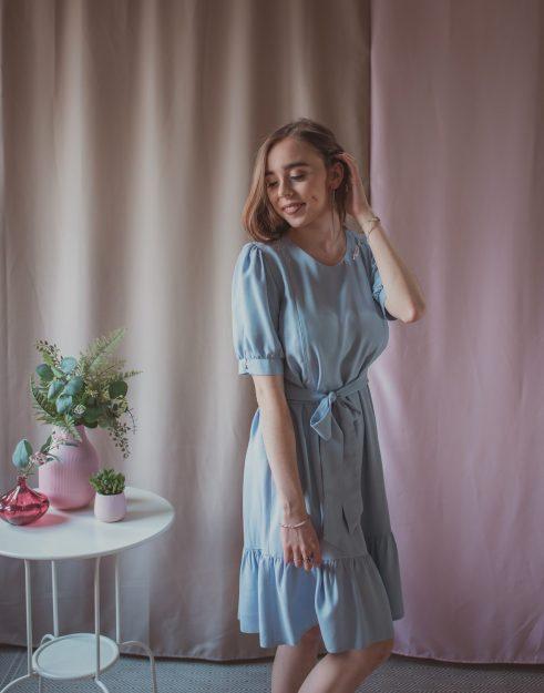 Sukienka ciążowa i do karmienia Adele Periwinkle