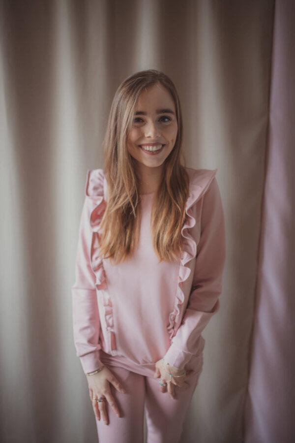 bluza do karmienia pastel pink