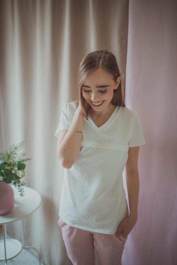 Bluzka do karmienia Milka - white