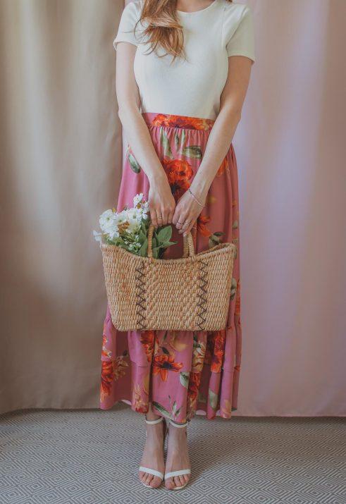 [PRE-SALE]Mamma Mia - indian rose - regulowana spódnica 3w1