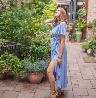 Florence sky - sukienka kopertowa maxi