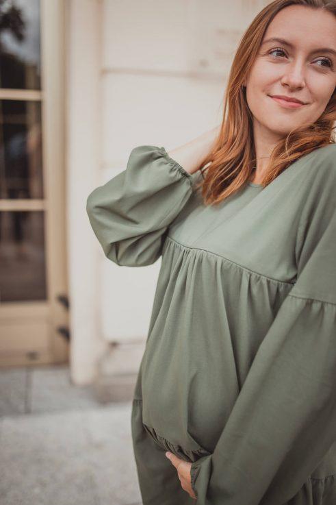 Allison olive - sukienka ciążowa i do karmienia