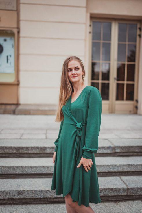 Isabella bottled - sukienka kopertowa