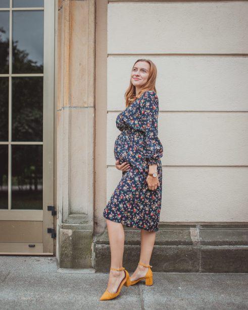 Irene navy blue - sukienka ciążowa i do karmienia